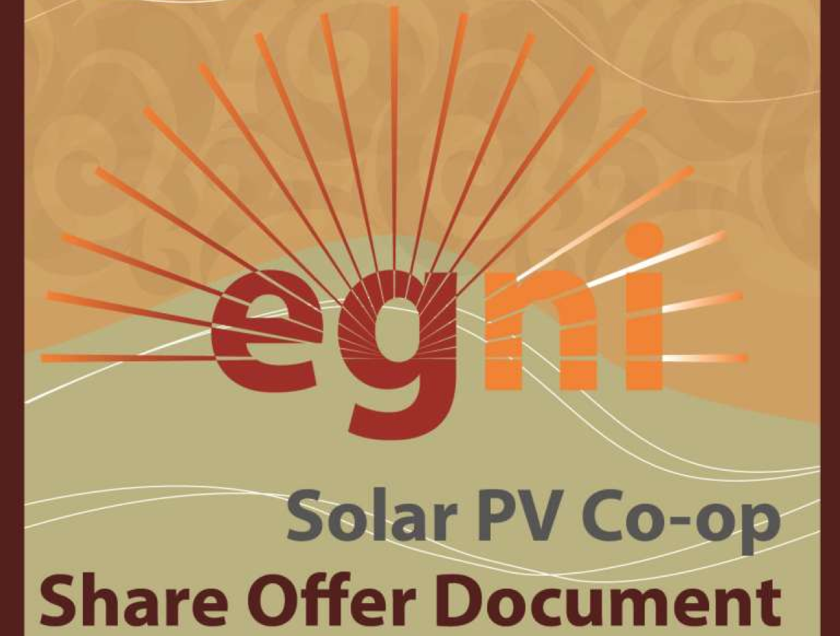 screenshot of the cover of Egni's Share Offer Document